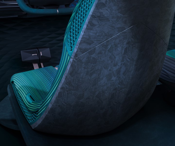 Maezio thermoplastic composites for automotive interior seat back
