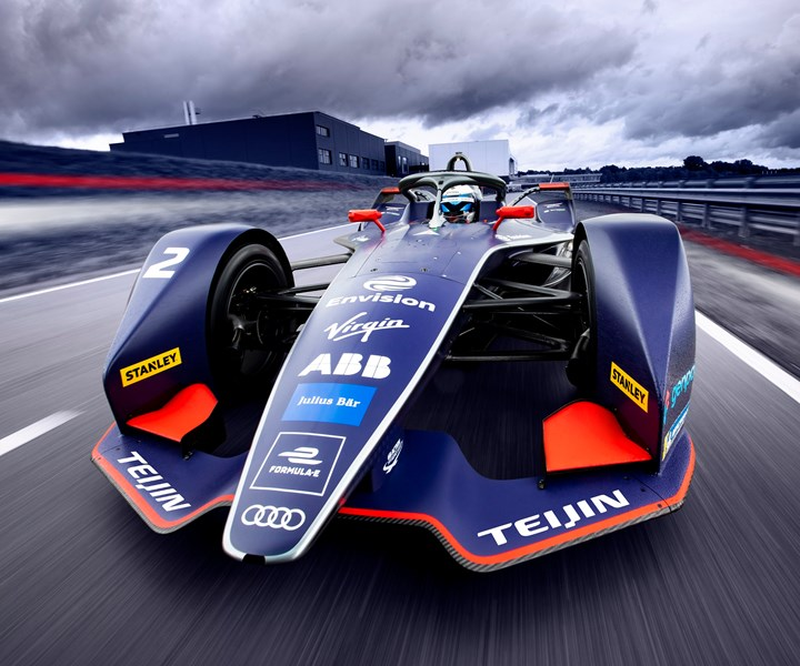Teijin Envision Virgin Racing composite Formula E all-electric racecar
