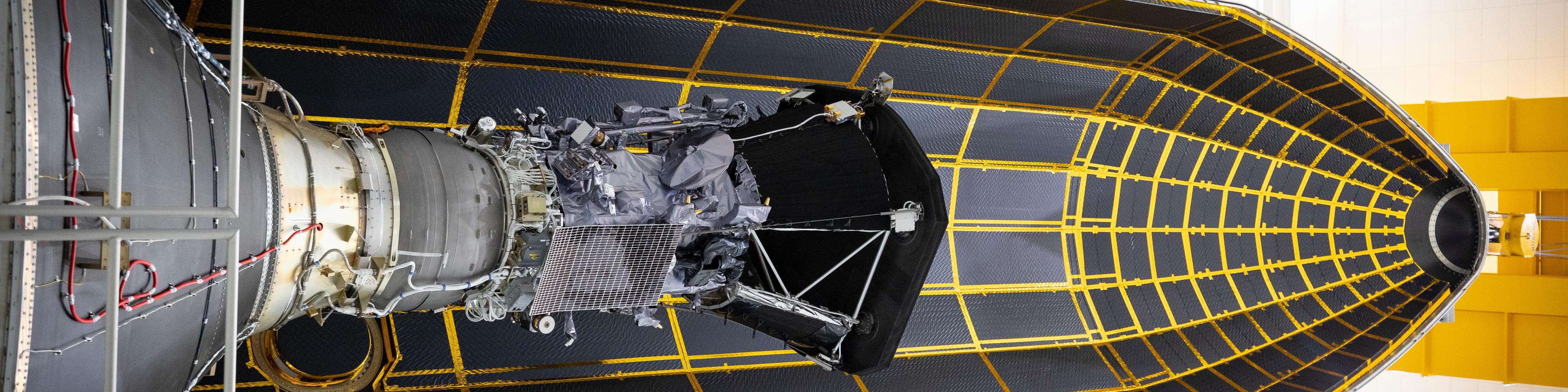 carbon fiber composite payload fairings for space launch vehicle