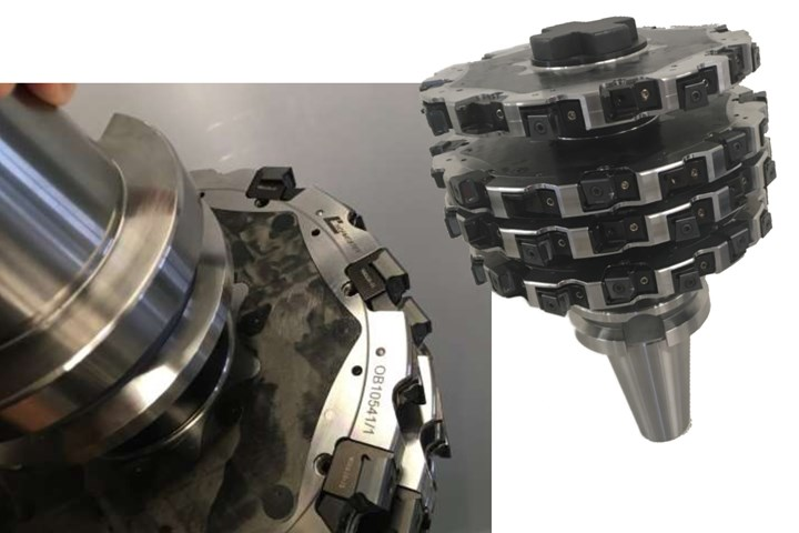 CompoTech, Hofmeister hybrid four-disc milling cutter