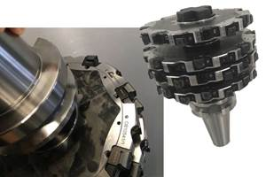 Hybrid metal composite four-disc milling cutter reduces machining times by 78%