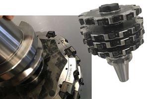 杂交金属复合四盘铣刀减少加工时间78%