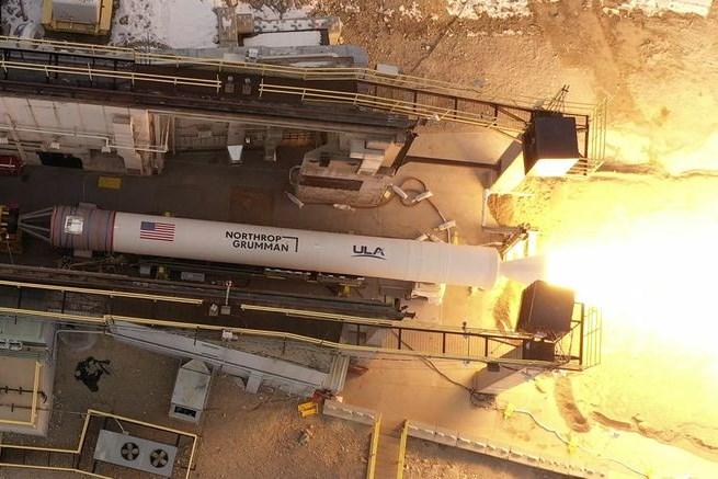 Northrop Grumman conducts a validation test of its GEM 63XL rocket motor
