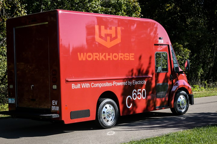Workhorse Group's C-Series all-electric delivery vehicle.