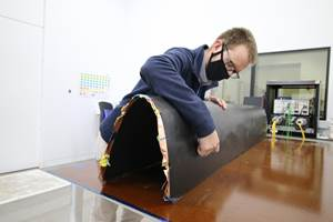 Self-responsive composite materials to reduce aerospace production costs, improve sustainability