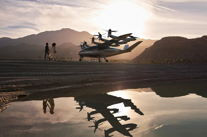 Rendering of Archer's upcoming all-electric eVTOL aircraft.
