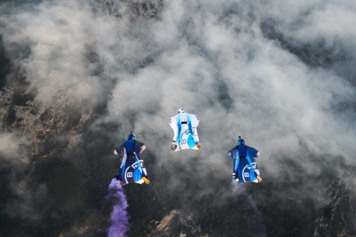BMW i electrified wingsuit in action.