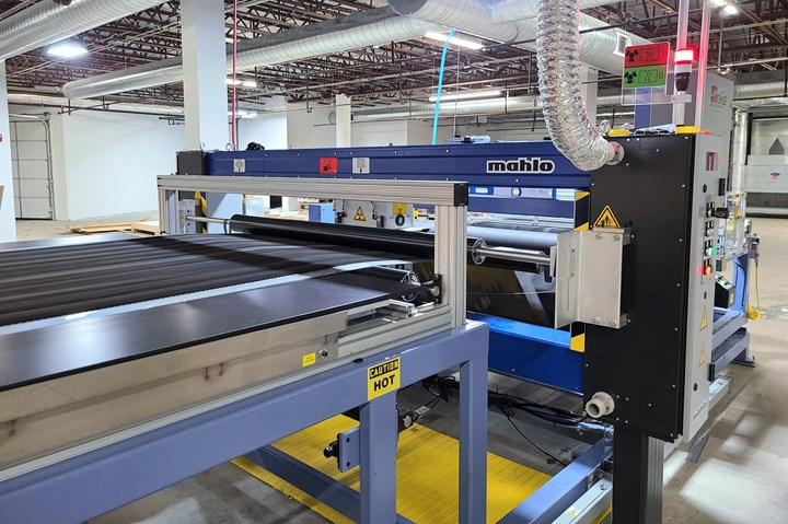 Boston Materials' 60-inch-wide manufacturing line.