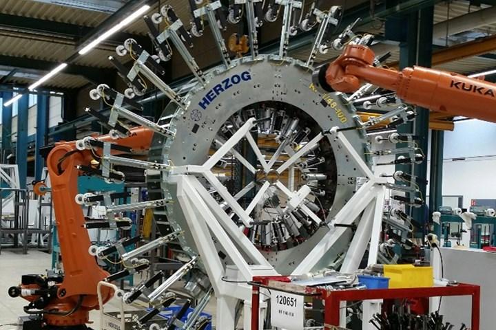 Collins Aerospace Herzog braiding machine