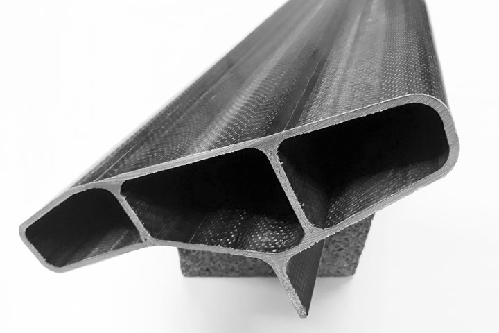 pultruded carbon fiber composite side skirt for electric vehicle