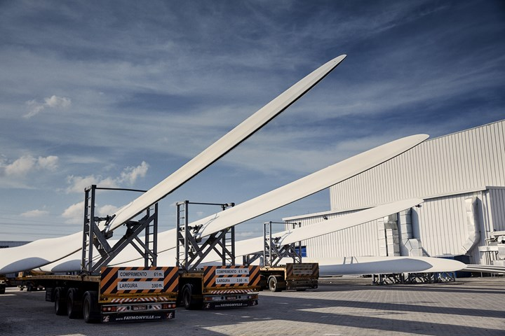 LM Wind Power blades.