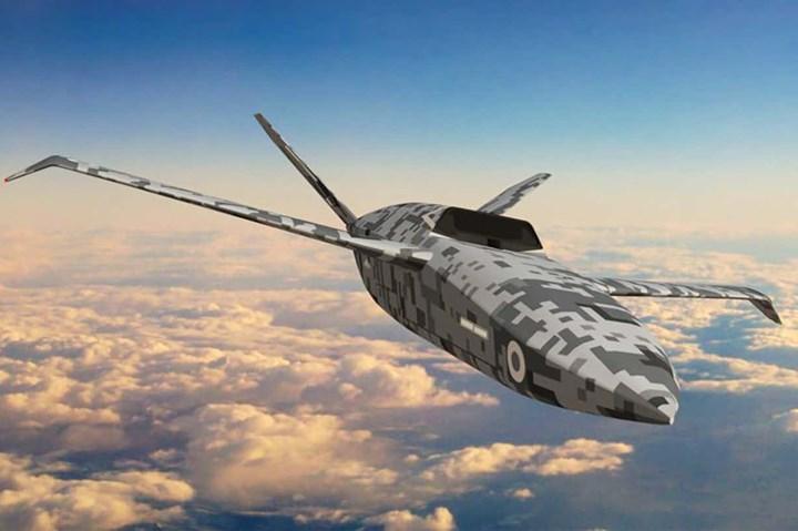 Rendering of U.K. loyal wingman drone.