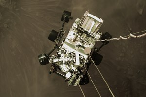Perseverance rover landing previews touchdown footage