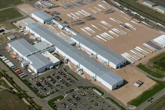 Vestas'  Brighton blade factory.