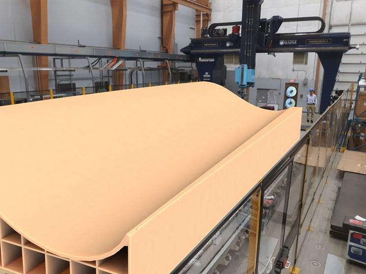 渲染的一个ASCC 3d打印风叶片模具段。