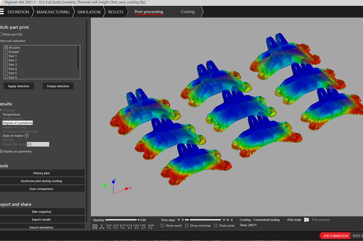 CT scan of 3D part build