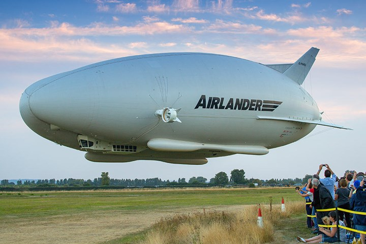 Airlander 10 prototype first flight.