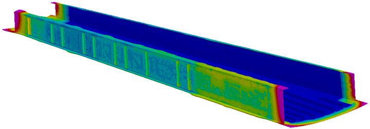 PAM-RTM resin flow simulation.