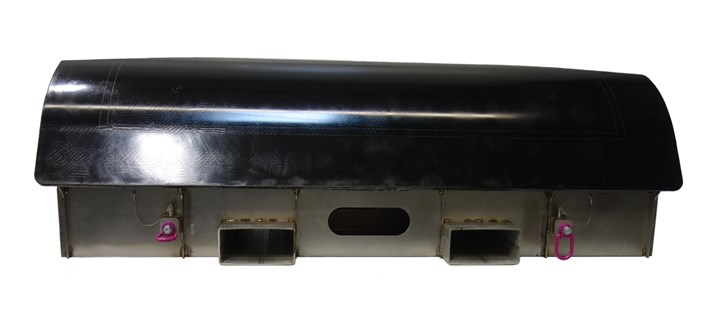 Side view of direct mold tooling technology.