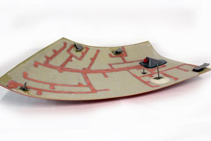 INVENT GmbH piezo-ceramic network on railcar composite side skirt