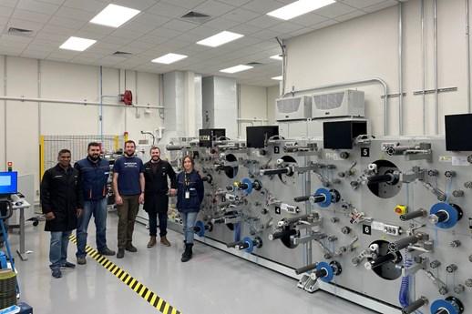 Single-step prepreg slitting and rewinding unit to advance NIAR ATLAS aviation research