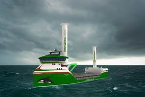 Zero-emissions cargo ship to be powered by hydrogen and wind