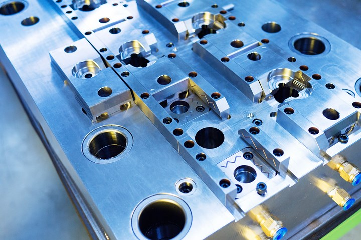 Injection mold plate.