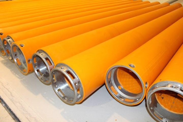 完成的巴尔莫勒尔纤维电缆保护系统段。