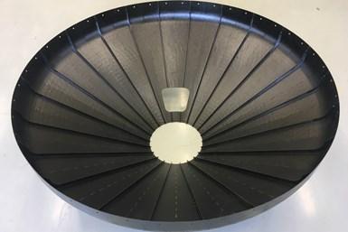 发动机推力框架(ETF),成品原型,内部视图