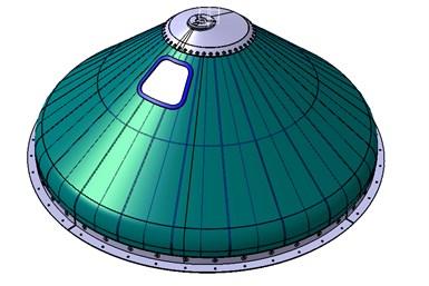 发动机推力框架(ETF)设计概念,外表面