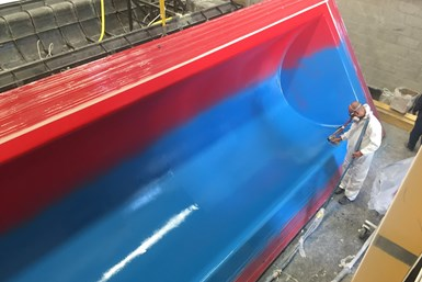 Soling composite covers for Bogotá Casablanca tank, female mold gel coat