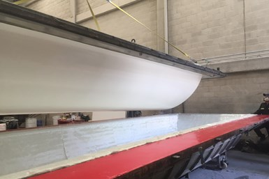 Soling composite covers for Bogotá Casablanca tank, mold close