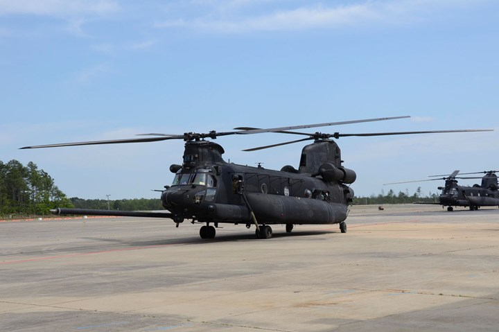 Boeing MH-47 Chinook.