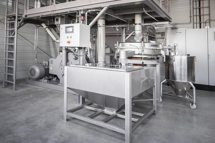 Ensinger Group's new polymer pulverizer machine.