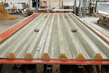 FRP bridge fabrication.