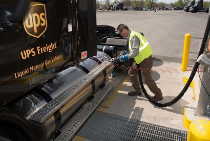 UPS freight using liquid natural gas.