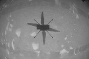 美国航天局灵巧直升机首次在火星上成功飞行
