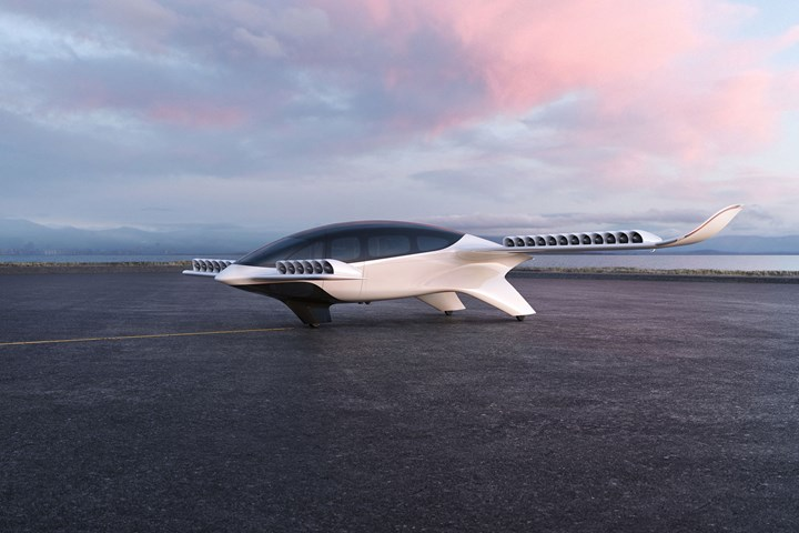 Lilium seven-seater electric vertical takeoff and landing eVTOL aircraft