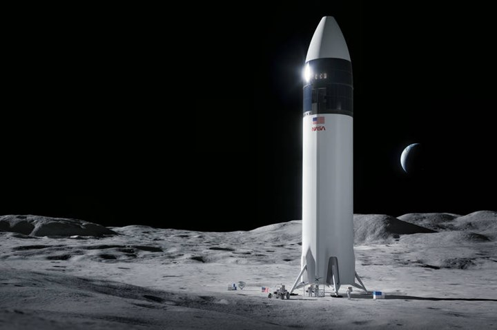 Illustration of SpaceX Starship human lander design.