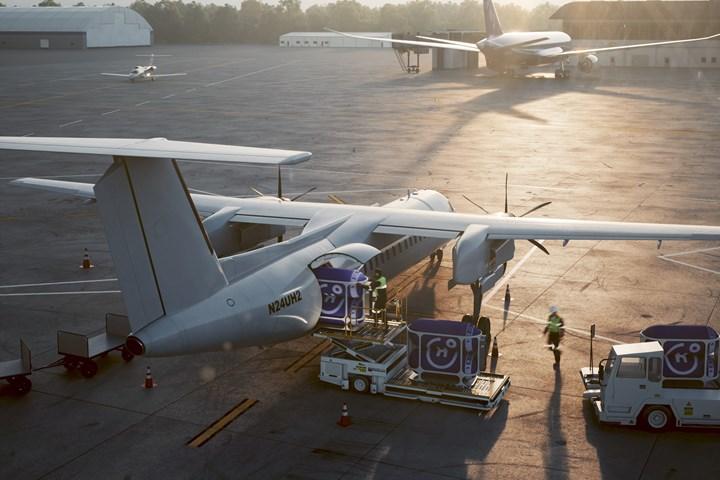 Dash 8 aircraft.