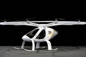 volocopter在上海汽车上海2021推出卷伏特2X evtol飞机