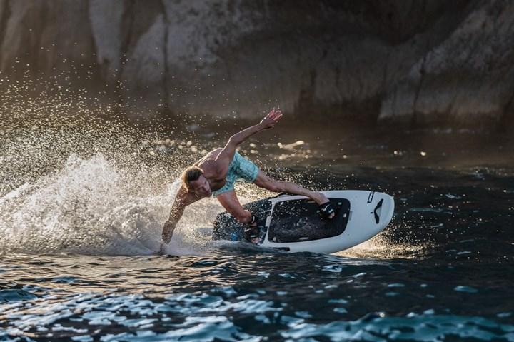 Radinn electric-powered surfboards.
