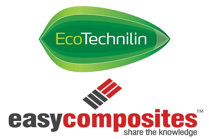 Easy Composites to distribute Eco-Technilin natural fiber reinforcement products.