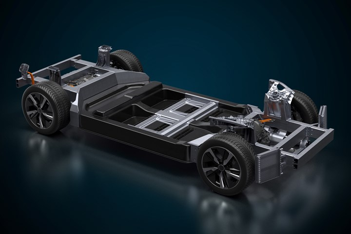 The EVX electric vehicle platform developed by Williams Advanced Engineering .