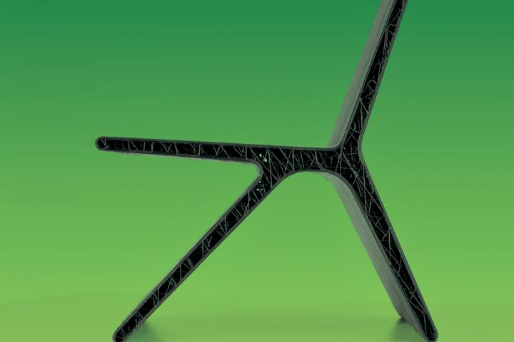 由Michiel van der Kley设计,使用Covestro的玻璃纤维填充的rPET材料。