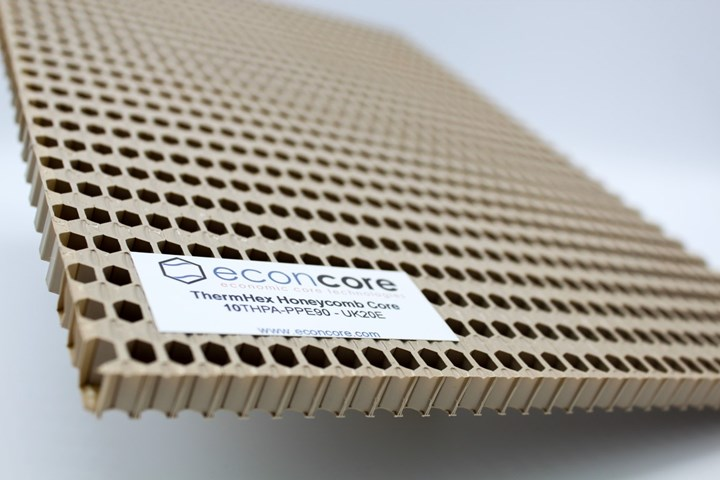 Econcore热塑性蜂窝芯。