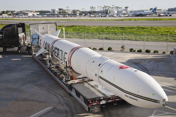 维珍轨道自动化Launcherone火箭图像的复合材料加工过程