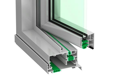 Thermeco aluminum window frame with thermal breaks