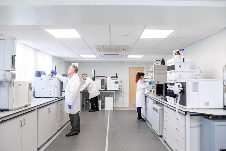 Arkema's U.K.-based Center of Excellence laboratory.