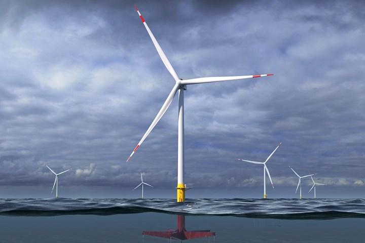 GE floating wind turbine